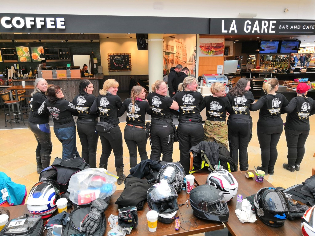 WRWR ladies at the Eurotunnel
