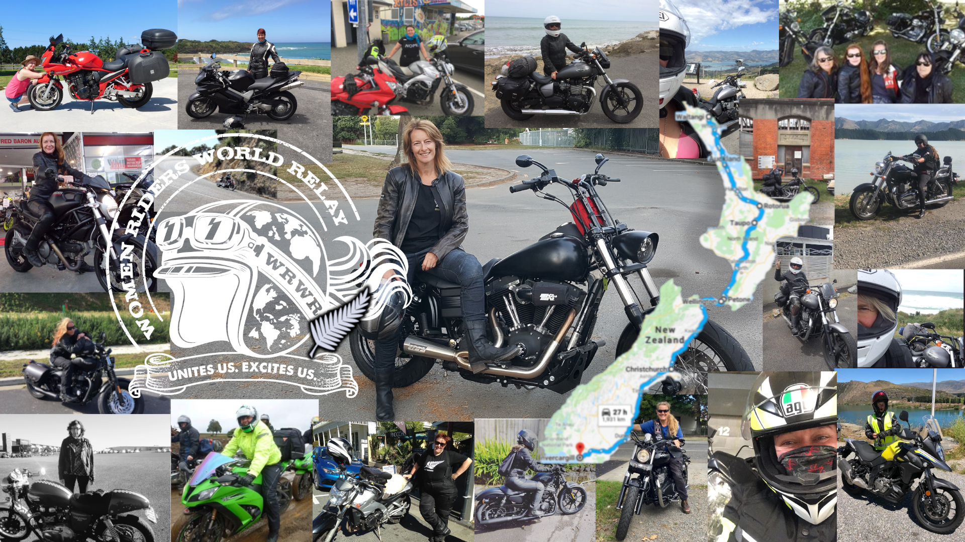 Women motorcyclists who are organising the Women Riders World Relay in New Zealand